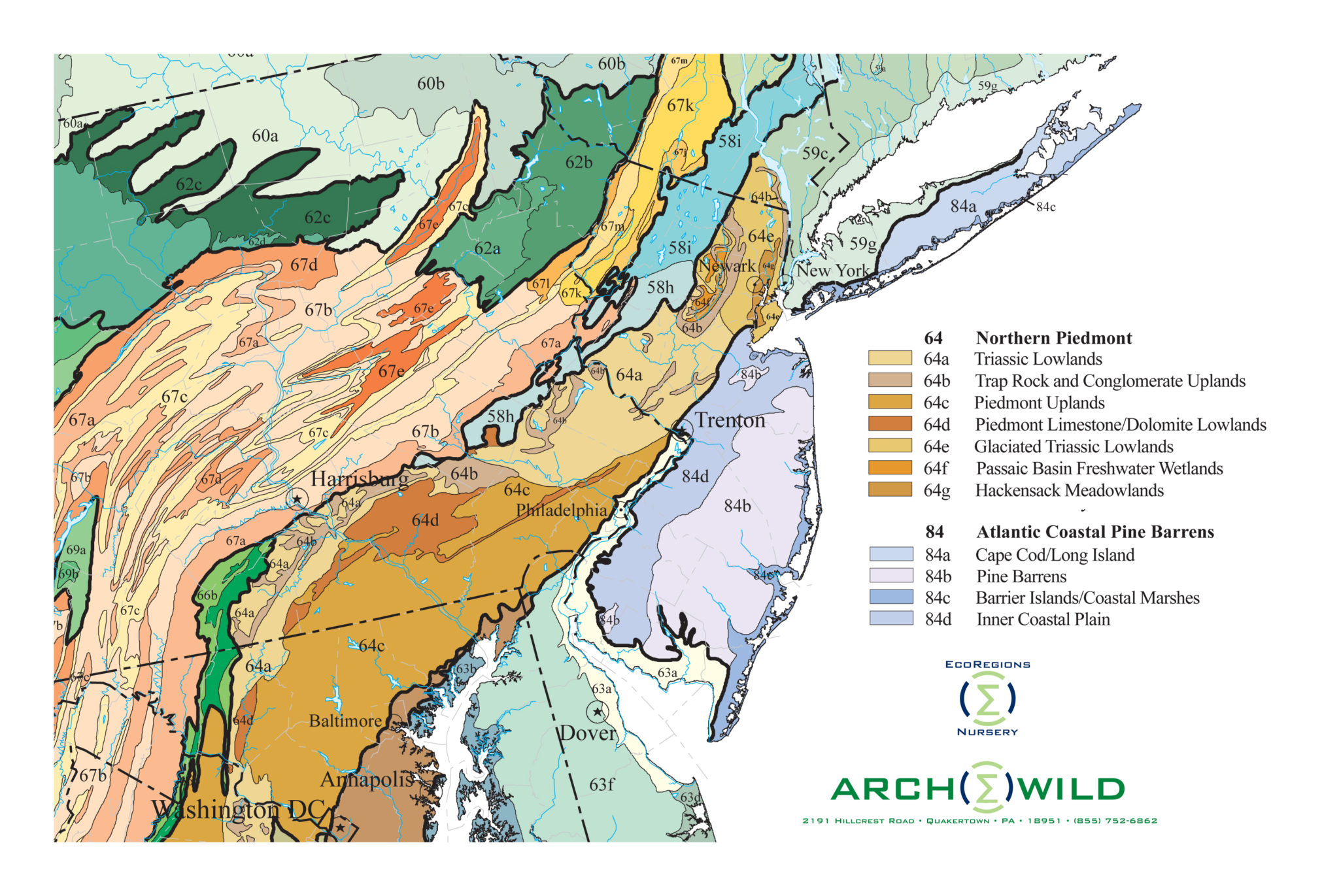 ArcheWild EcoRegion Level IV New Jersey