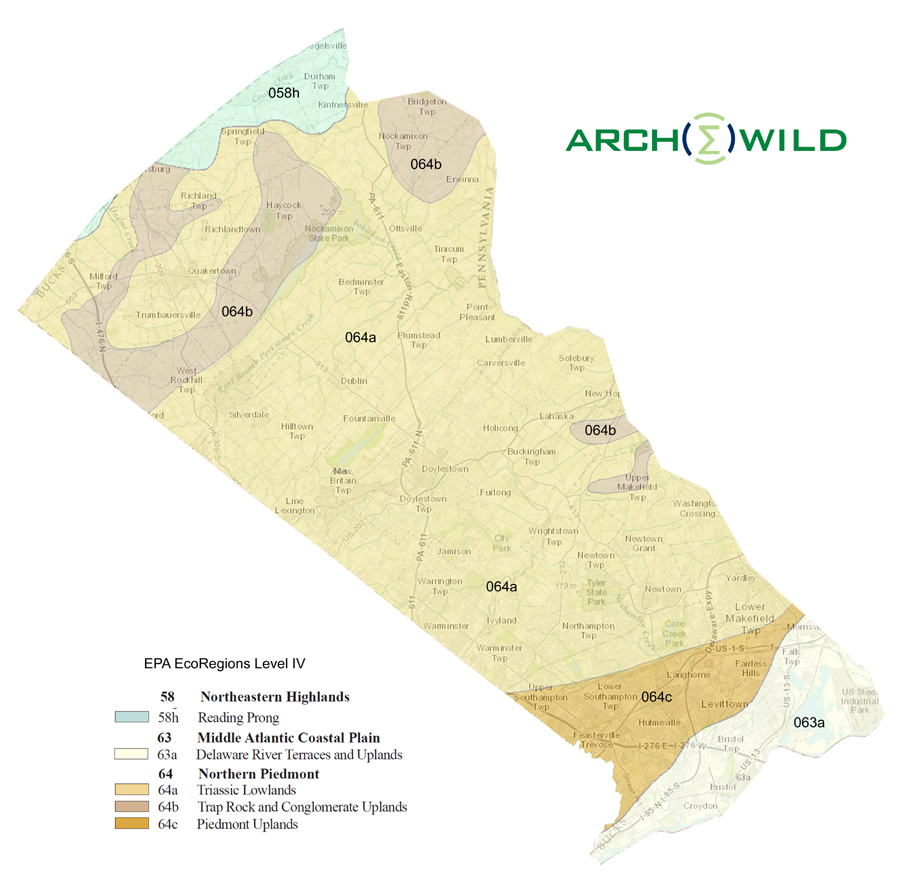 Bucks County EcoRegions – ArcheWild Small